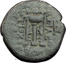 ANTIOCHOS II THEOS 261BC Ancient SELEUKID Greek Coin APOLLO TRIPOD ANCHOR i64662