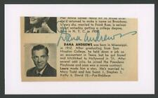 """Dana Andrews autograph cut 