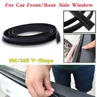 8M V-Shape Rubber Trim Weatherstrip Seal Strip For Car Front/Rear Side Windows