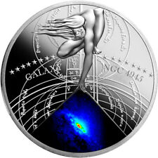 Niue 2015 ACTIVE GALAXY- NGC 4945 The Most Beautiful Galaxies Proof Silver Coin