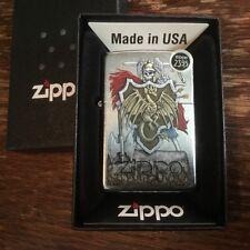Zippo 2526 Dragon Shield Street Chrome RARE Full Size Lighter