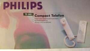 PHILIPS TD 9051 Compact Telefon - schwarz, analog, schnurgebunden, Festnetz