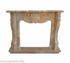 Fireplace Classic Fireplace Marble Pink Portugal Classic Stone Marble Fireplace
