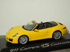 Porsche 911 991 Carrera 4S Cabriolet - Herpa 1:43 in Box *30710