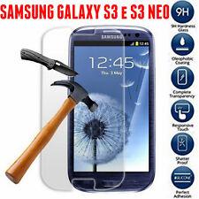 Pellicola in Vetro Temperato per Samsung Galaxy S3 Neo I9301 I9300 Antiurto