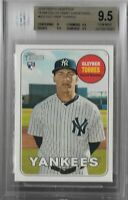 Gleyber Torres New York Yankees 2018 Topps Heritage Color Swap BGS 9.5 GEM MINT