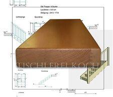 Treppenstufe aus Buche, lamellenverleimt / Trittstufe für gerade Treppe NEU