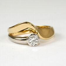 Echtschmuck-Ringe mit Brillantschliff für Damen (17,5 mm Ø) von 55