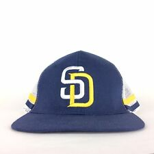 San Diego Padres COX Cable Baseball Mesh Hat Cap Adjustable Navy Blue White