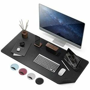 Anti Slip Desk Pad Protector Waterproof PU Leather With Non-Slip Rubber Mat