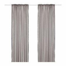 2 Pairs (4 Panels) IKEA Vivan Grey Sheer Curtains Blind 250 x 145cm NEW