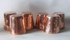 More details for antique copper dariole moulds molds pastry cooking chef rare