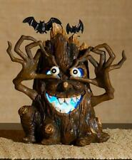 Lighted Color-Changing Haunted Scary Tree w/ Bats Halloween Tabletop Centerpiece