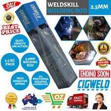 Cigweld Electrodes Pack WEG2525 WeldSkill 2.5mm Welding Rod 2.5kg Welder Rods AU