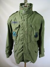 D9424 VTG US ARMY ALPHA M-65 Cold Weather Field Coat Military Jacket Size M