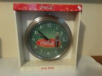 Coca Cola Big Ben Wall Clock Horloge Murale 1999 in Box