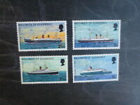 GUERNSEY 1972 MAIL BOATS II SET 4 MINT STAMPS