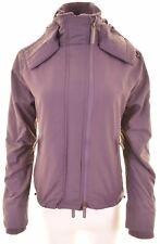 SUPERDRY Womens Windbreaker Jacket UK 12 Medium Purple Nylon The Windcheater
