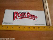 Who Framed Roger Rabbit 1988 Movie Preview ticket screening VIP