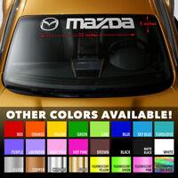"MAZDA STYLE #2 Windshield Banner Vinyl Long Lasting Premium Decal Sticker 33""x5"""