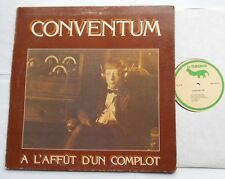 *CONVENTUM A l'affut d'un complot VG++ to NM- CANADA QUEBEC 1977 PROG FOLK LP