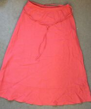 M&S PEACH COLOUR LINEN BLEND SKIRT WITH CONCEALED ELASTIC WAISTBAND-SIZE 10 BNWT
