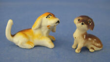 Dollhouse Miniature 2 Plastic Dog Figures Accessories
