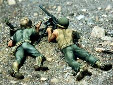 Valiant Miniatures Kit# 9827 - WWII USMC Machine-gun Team, Okinawa - 54mm