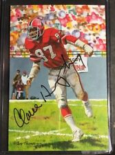 Claude Humphrey Goal Line Art Card Enshrined Proof Autograph Falcons 16/50