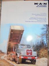 Prospekt Sales Brochure MAN M.A.N 26.240 DHS 26.240 DHAS Kurzhauber LKW Technik