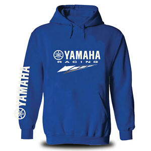 Genuine Yamaha Motorcycle Extreme Racing Superbike Motocross Blue Hooded Hoodie
