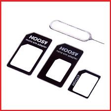 NOOSY 4 IN 1 UNIVERSAL Nano Sim Karten Adapter Micro Nadel HANDY KOMPATIBEL Z7