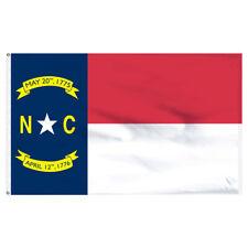 North Carolina Flag 3x5ft Nylon-Indoor: Add Pole Hem and Fringe