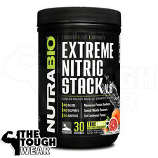 NUTRABIO - EXTREME NITRIC STACK 30serv -Blood Orange- Concentrated Muscle Growth
