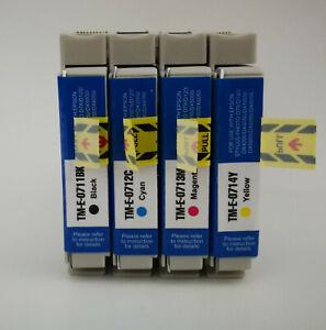 4 kompatible Tintenpatronen T711-14 passend für Epson