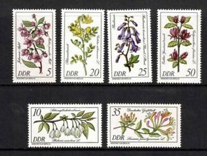 EAST GERMANY DDR 1981 RARE PLANTS BERLIN ARBORETUM SET 6 MINT NEVER HINGED MNH