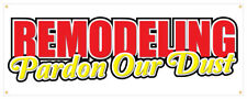 Remodeling Banner Pardon Our Dust Coming Soon Retail Store Sign 36x96