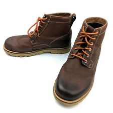 """Keen """"The 59"""" Mens Ginger Bread Brown Leather Boot Plain Toe Size 7"""