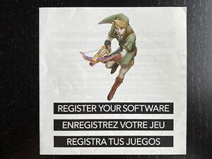 Nintendo DS Register Your Software My Nintendo Insert (Link)