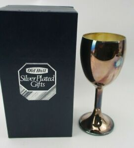 Boxed Old Hall Silver Plated Wine Goblet designed by Robert Welch