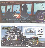 BLOC-FEUILLET SOUVENIR MARINS JEANNE D'ARC
