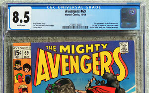 AVENGERS #69, CGC 8.5, VF+, White Pages, Marvel Comics, 1969