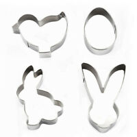 Baking Cake Mold Biscuit Cookie Cutter Easter Egg Rabbit Shape Stainless Steel