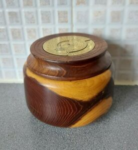 40 Years Calender Wooden Hand Carved Pot 2000-2039 Millennium