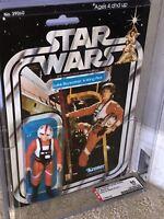 AFA 85 Kenner 1979 Star Wars Original 21-back-A Luke X-Wing (85-85-80) Clear NM+