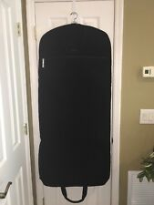VERA BRADLEY HANGING TRAVEL GARMENT BAG LUGGAGE $198 QUILTED MICROFIBER BLACK
