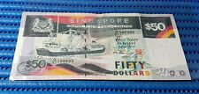 Singapore Ship Series $50 Note G/81 108999 Nice Number Dollar Banknote Currency