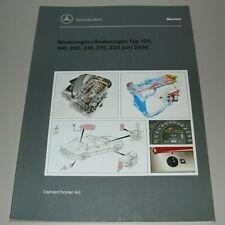Werkstatthandbuch Mercedes R 129 SL W 168 202 210 215 220 Änderungen Neuerungen!