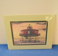 """Harbour Lights Watercolor Print of """"Seven Foot Knoll, Md"""" w/binder."""