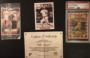 Willie Stargell Lot-1992 Kelloggs PSA 9, 93' Certified Autograph, Stouffers card